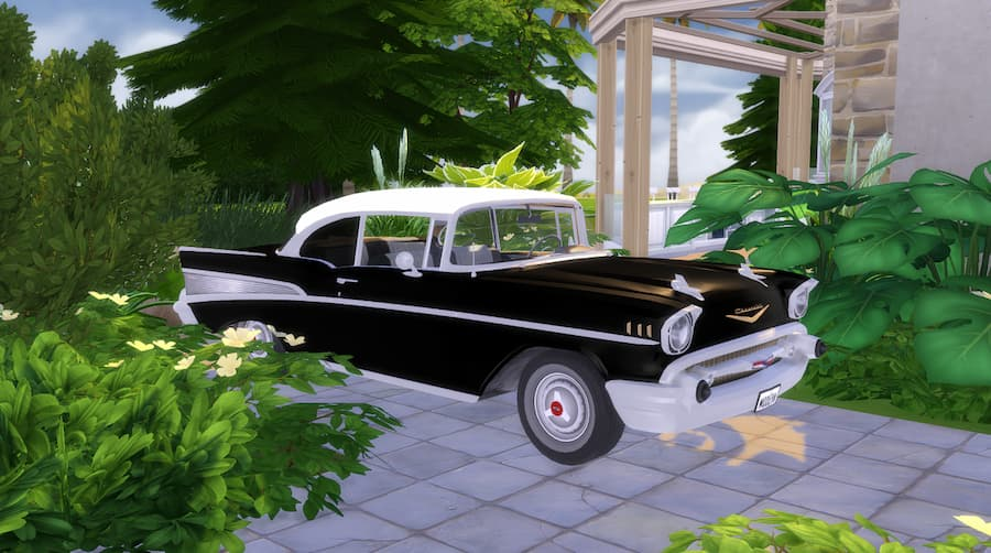 Chevrolet Bel Air 1957 the sims 4
