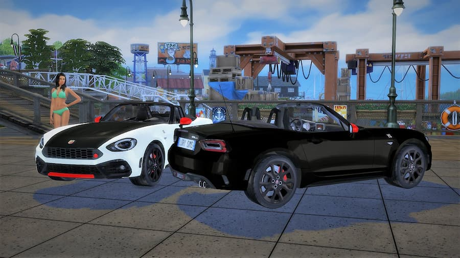 Abarth 124 Spider auto italiana the sims 4