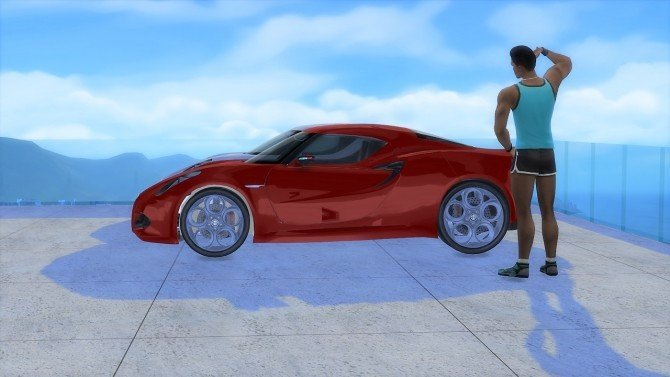 Alfa Romeo 4C Concept car the sims 4