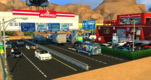 Autogrill gas station oasis springs the sims 4
