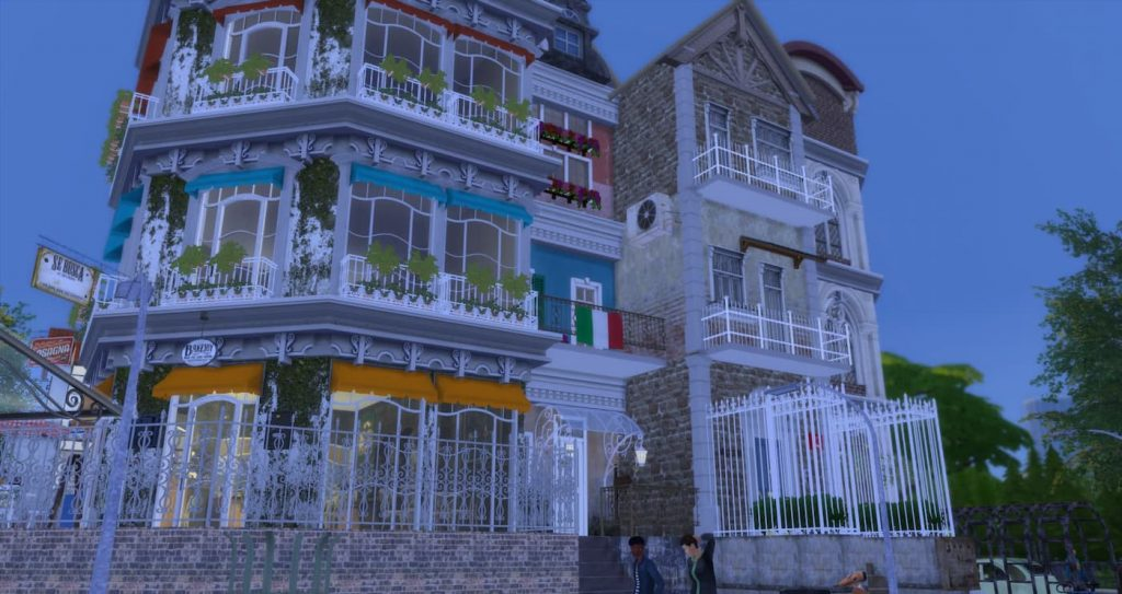 Borgo parigino lotto comunitario the sims 4