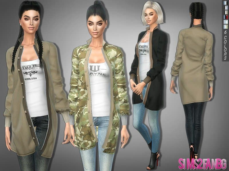 Cappotto donna the sims 4