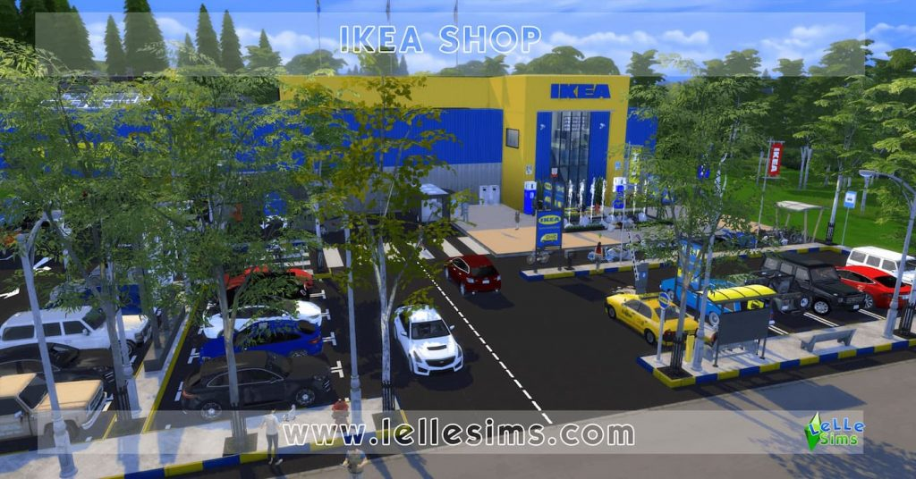 Download IKEA SHOP lotto negozio the sims 4