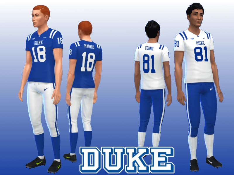 Duke Blue Devils Football Uniform the sims 4