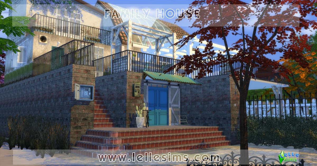 Family house download casa residenziale the sims 4