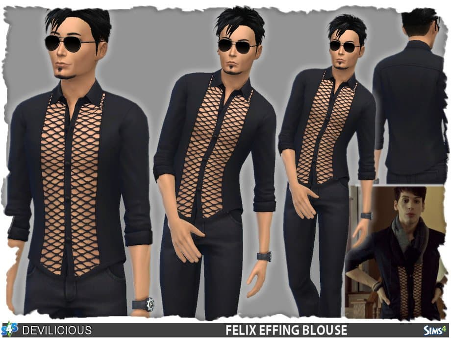 Felix Effing Camicetta uomo the sims 4