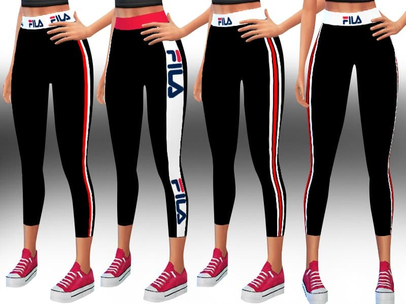 Fila Athletic and Casual Leggings donna the sims 4