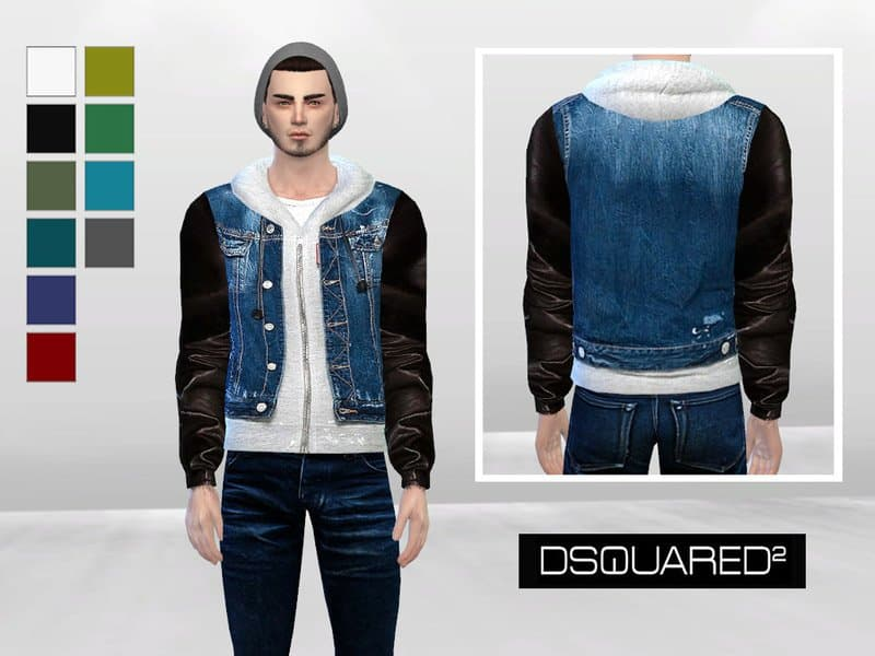 Giacca uomo jeans the sims 4