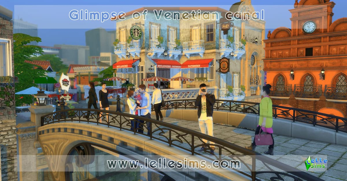 Glimpse of Venetian canal lotto comunitario the sims 4