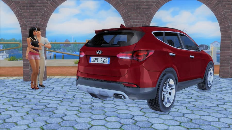 Hyundai Santa Fe the sims 4