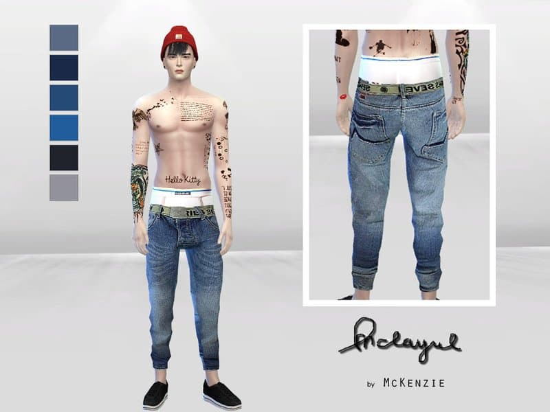 Jeans larghi uomo the sims 4