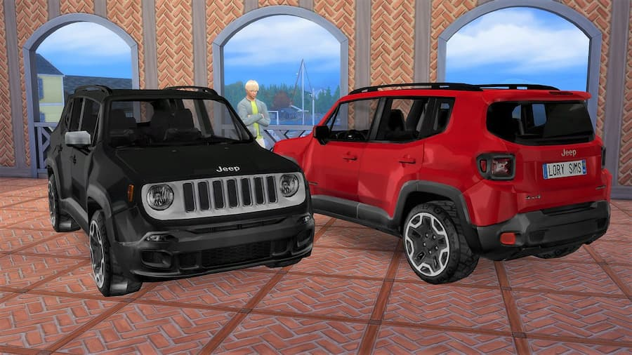 Jeep Renegade auto the sims 4