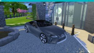 Lexus LC500 veicle the sims 4
