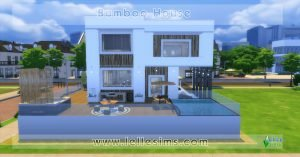 Lotto residenziale the sims 4 bamboo house