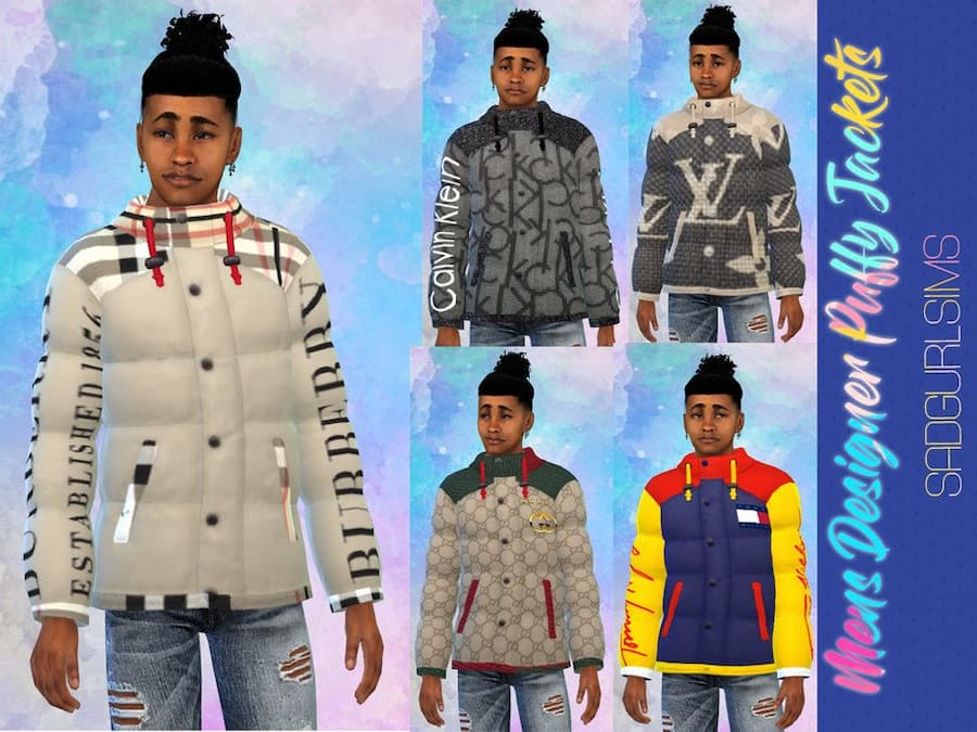 Mens Designer Puffy Jackets felpa uomo the sims 4