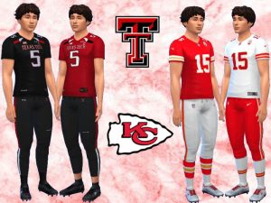 Patrick Mahomes Uniforms fitness needed the sims 4