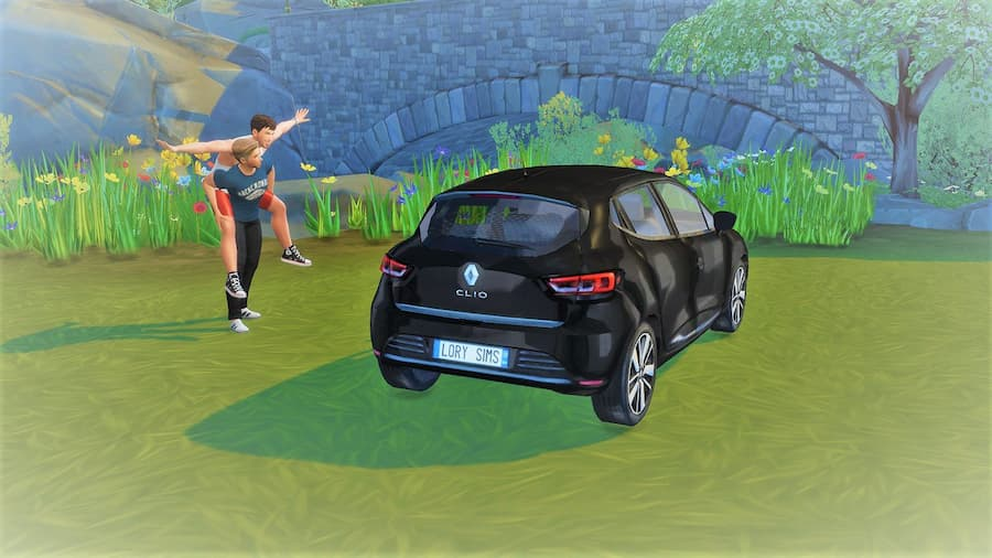 Renault Clio car the sims 4