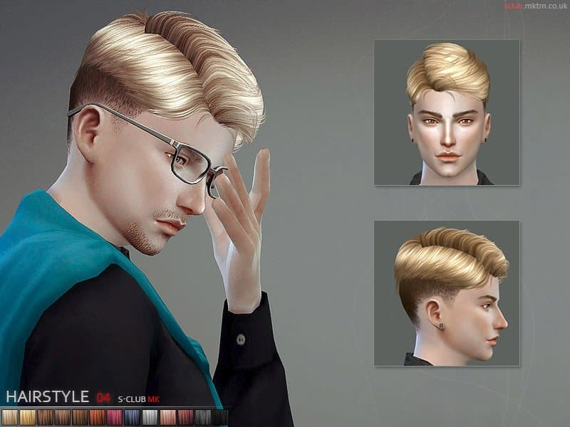 S-Club MK TS4 capelli uomo the sims 4