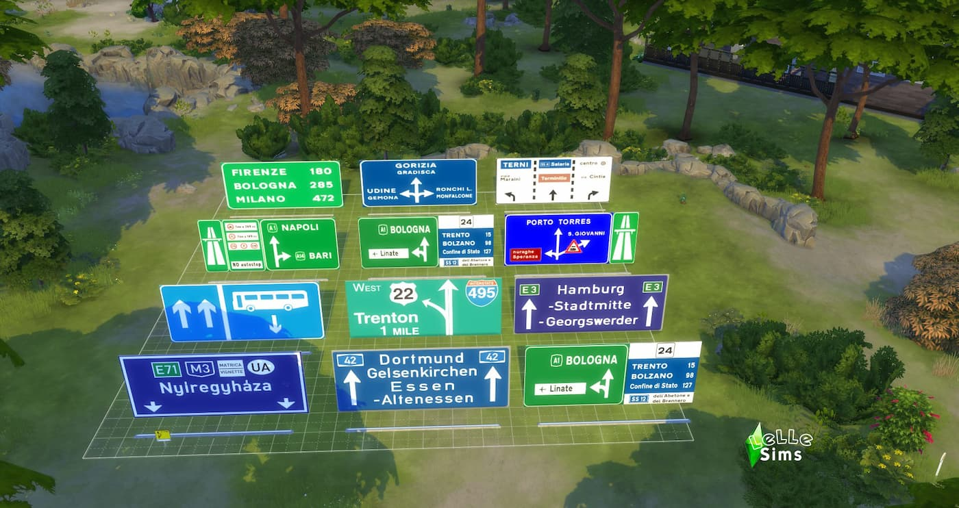 Segnali stradali Road Signs The Sims 4