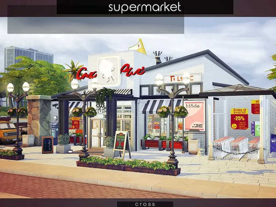 Supermarket store the sims 4