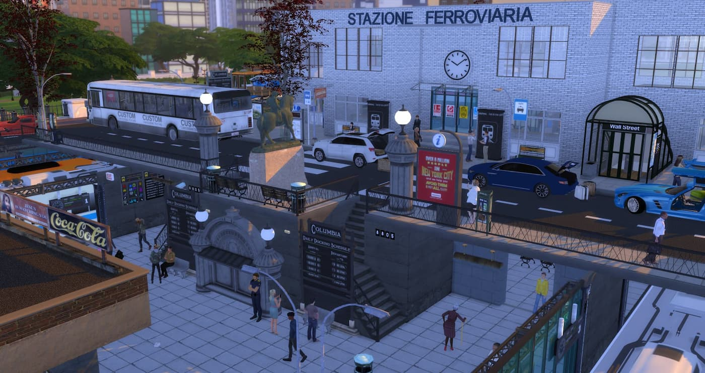 Train Station Community lot the sims 4