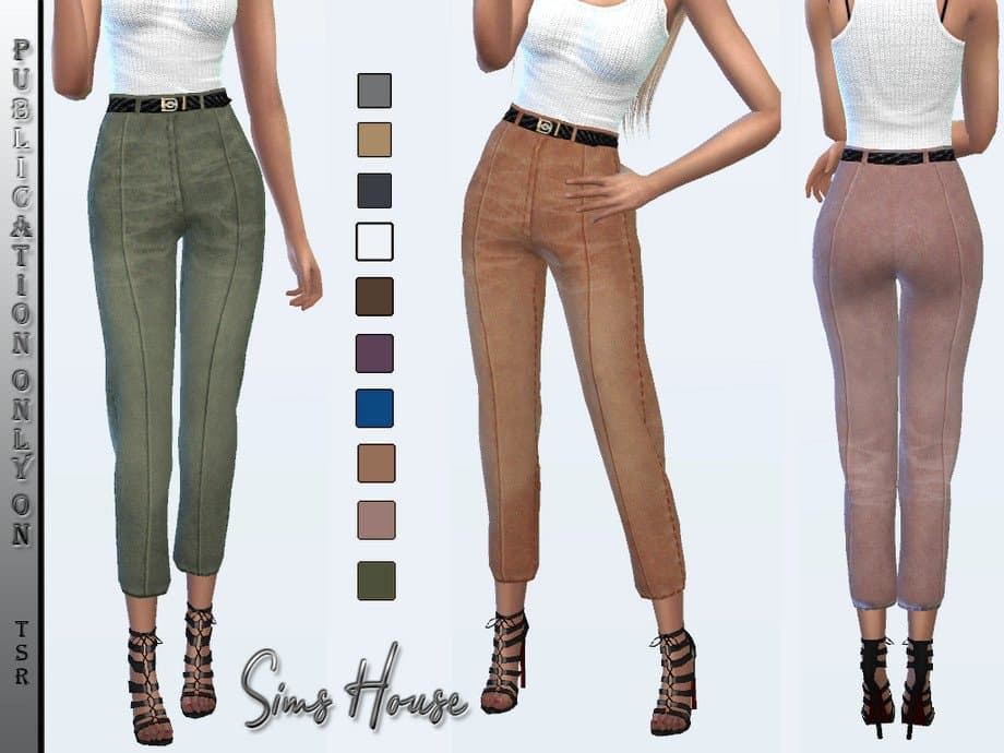 Women's Eco Suede Pantaloni per donna the sims 4