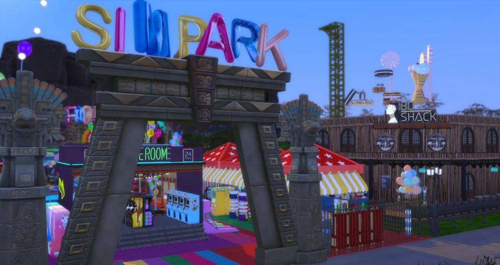 Functional park game center the sims 4